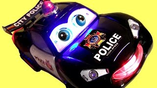getlinkyoutube.com-Police Car Googly Eyes for Babies Toddlers Bump 'n Go with Lights 'n Sounds - To Protect and Serve