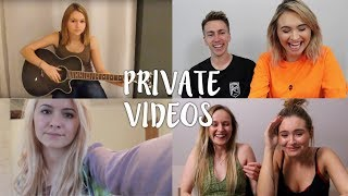 FREYA AND MINIMINTER REACT TO MY OLD PRIVATE VIDEOS