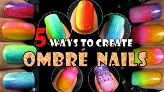 getlinkyoutube.com-OMBRE NAILS | 5 WAYS TO CREATE | RAINBOW GRADIENT NAIL ART TREND 2013 How to Easy Design Tutorial