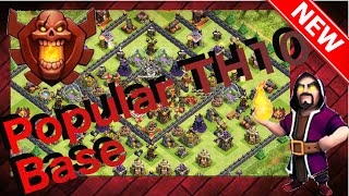 "getlinkyoutube.com-Awesome Re-Take On Already Popular Base Design! Th10 Trophy/War Base  ""The Decimator"" + Replays!"