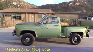 1975 Chevy K10 Stepside 4x4 Manual 350 V8 Pickup Truck Classic Project Video #1