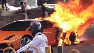 getlinkyoutube.com-Insane Supercar and Sportscar Crashes & Fails