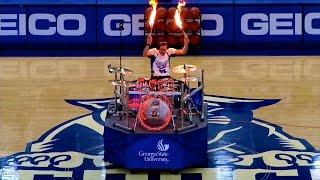 getlinkyoutube.com-Drum Cover Mashup & LIVE FIRE DRUMMING @ Georgia State Halftime Show