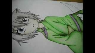 getlinkyoutube.com-Drawing Tomoe (Kid) from Kamisama Hajimemashita