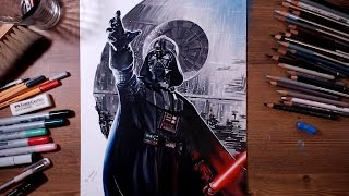 getlinkyoutube.com-STAR WARS : Darth Vader - speed drawing | drawholic
