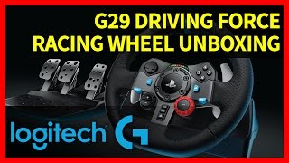 getlinkyoutube.com-Logitech G29 Driving Force Racing Wheel Unboxing for PC & PS3 / PS4
