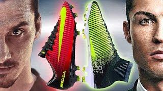 getlinkyoutube.com-Ibrahimovic VS Ronaldo - Boot Battle: Nike Mercurial Vapor XI vs Superfly V Test & Review