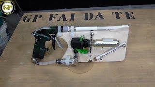 getlinkyoutube.com-Pistola aria compressa automatica con bombolette Co2 - Fai da te -  Automatic compressed air gun