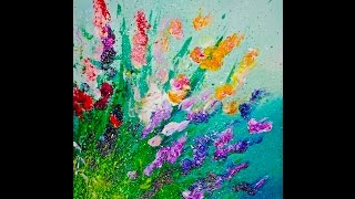 LIVE Finger Painting  Flowers Splatter Abstract Acrylic  for Beginners