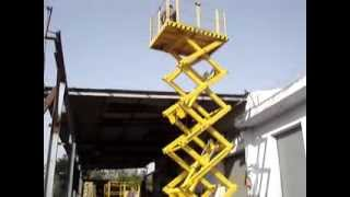 getlinkyoutube.com-Use of  Hydraulic scissor lift platform, Goods lift, by Technical Enterprises, www.handyindia.com