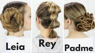 getlinkyoutube.com-3 Iconic Star Wars Hairstyles Tutorial!