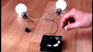getlinkyoutube.com-Free Energy Magnet Motor fan as Free Energy Generator for light bulb by Wasaby Sajado