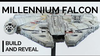getlinkyoutube.com-1/144 Bandai Millennium Falcon with LEDs reveal