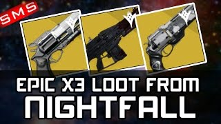 getlinkyoutube.com-Destiny: NIGHTFALL LOOT X3 CHARACTERS AMAZING DROPS THIS WEEK -__-  HAHA!