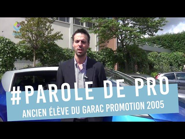 Franck DUBOIS, BTS Conception et Réalisation des Carrosseries