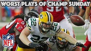 getlinkyoutube.com-Worst Plays of AFC & NFC Championship Games | NFL Highlights