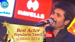 getlinkyoutube.com-SIIMA 2014 || Best Actor Popular in Tamil || Siva Karthikeyan