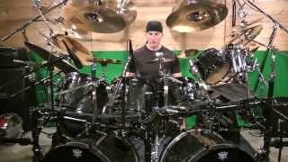 getlinkyoutube.com-Drum Lesson- Kevan Roy- Heavy Metal drum fill- Linear hand foot combination