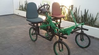 Four wheel bicycle (Quadracycle) Homemade !!