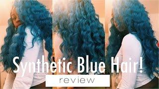 getlinkyoutube.com-BLUE SYNTHETIC HAIR?! REVIEW