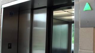 getlinkyoutube.com-Kone Glass Monospace MRL Elevators at Monk St  Parking Garage, Columbia, MO