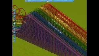 getlinkyoutube.com-Roller Coaster Tycoon 3 - Wooden Rainbow Death Coaster