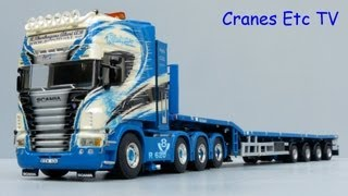 getlinkyoutube.com-WSI Scania R Tractor and Nooteboom Telestep Trailer 'Thurhagen' by Cranes Etc TV