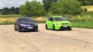 getlinkyoutube.com-FORD FOCUS RS VS OPEL ASTRA OPC drag, drift, sprint