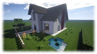 Download video minecraft moderne luxus villa mit moderner for Craftingpat modernes redstone haus