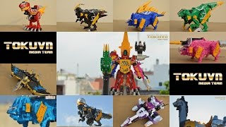 getlinkyoutube.com-All DX Gattai Zyuden Sentai Kyoryuger 2013! DX 獣電戦隊キョウリュウジャー! Power Rangers Dino Charge Megazord!