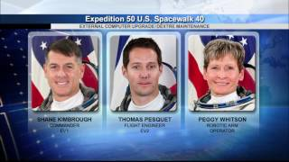 NASA Press Briefing Previews Three U.S. Spacewalks