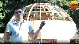 getlinkyoutube.com-Обзор стратодезического купола   Сравнение геодезического с круглым домом.