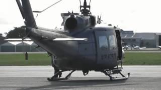 getlinkyoutube.com-RNZAF UH-1H IROQUOIS TWO SHIP START & TAKE OFF HAMILTON