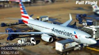 getlinkyoutube.com-American Airlines Full Flight | Dallas Fort-Worth to Philadelphia | Boeing 737-800 **with ATC**