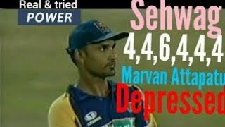 Sehwag Smashed 26 Runs (4 4 6 4 4 4) In 1 Over Against SL