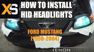 getlinkyoutube.com-How to Install Bi-Xenon HID - Ford Mustang 1998-2004