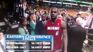 getlinkyoutube.com-This is Terrible - Pissed Off Fan Throws Drink at LeBron James After Game 6