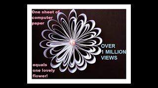 getlinkyoutube.com-One sheet of computer paper = one lovely flower.