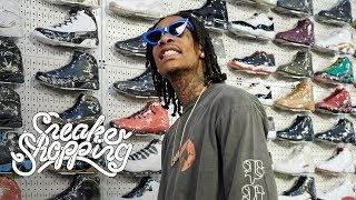 Wiz Khalifa Goes Sneaker Shopping With Complex width=