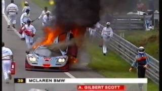 getlinkyoutube.com-1997 - Le Mans - Two major fires at the Mulsanne 'bosse.'