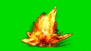 getlinkyoutube.com-Big Fire Explosion on Green Screen