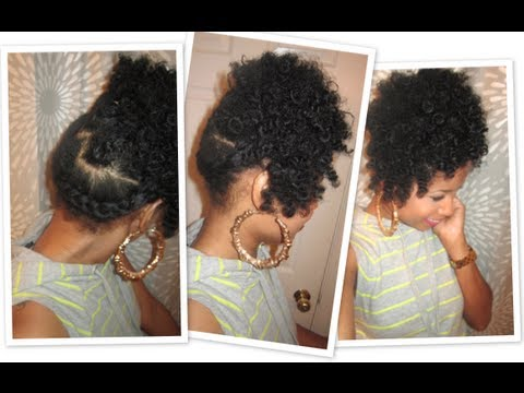 Side Wrap-Braid Updo | Natural Hair Tutorial