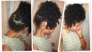 getlinkyoutube.com-Side Wrap-Braid Updo | Natural Hair Tutorial