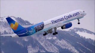 getlinkyoutube.com-1 HOUR   Winter Planespotting at Salzburg Airport   2014   ✈