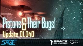 getlinkyoutube.com-Space Engineers, Pistons, Blast Doors, and BUGS! (Update 01.040)