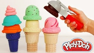 getlinkyoutube.com-Play Doh Ice Cream Popsicle and Cone Playset for Kids