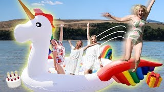 GiANT UNiCORN FAMiLY BiRTHDAY PARTY! 🎁🎈| Ellie And Jared width=