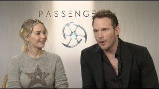 "getlinkyoutube.com-Passengers: Jennifer Lawrence ""Aurora Lane"" & Chris Pratt ""Jim Preston"" Interview"