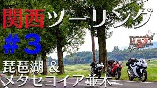 getlinkyoutube.com-関西ツーリング #3|琵琶湖&メタセコイア並木|Daytona675【モトブログ】