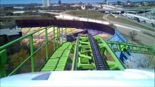 getlinkyoutube.com-Shockwave (Six Flags Over Texas) Front Seat On Ride HD POV